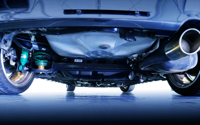 UNDER BODY OF NCP91 VITZ RS.