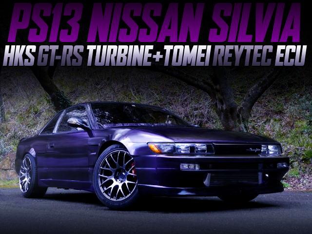 GT-RS TURBINE AND REYTEC ECU WITH S13 SILVIA WIDEBODY TO PURPLE.