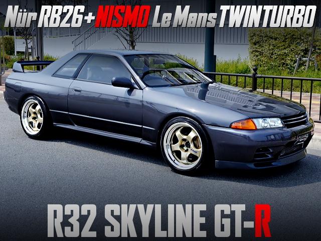 Nur RB26 With NISMO Le Mans TWINTURBO INTO R32 SKYLINE GT-R.