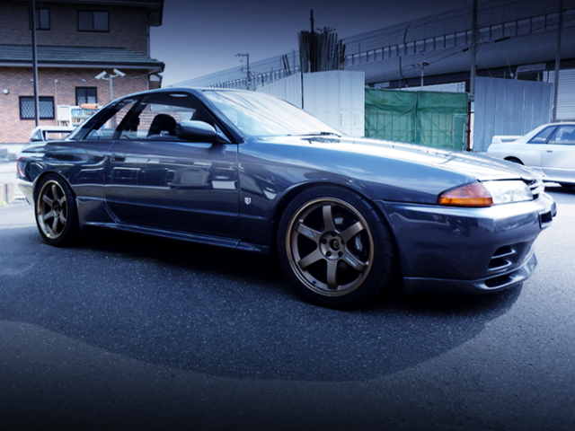 FRONT EXTERIOR OF R32 GT-R NISMO TO Homologation special of 500 road cars.