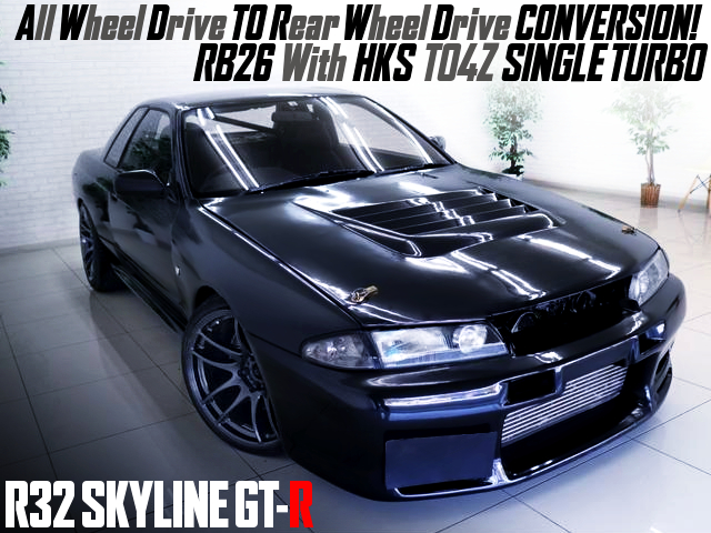 RWD CONVERSION AND RB26 With TO4Z SINGLE TURBO OF R32GT-R.