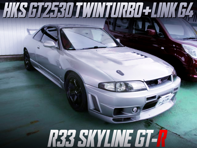 RB26 With V-CAM AND GT2530 TWINTURBO OF R33 GT-R SILVER.