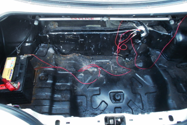 BATTERY TRUNK RELOCATION.