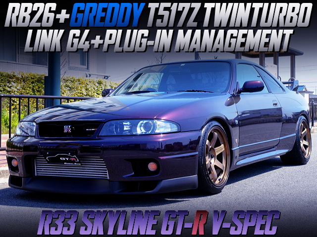 T517Z TWINTURBO AND LINK G4 ECU OF R33 GT-R V-SPEC.