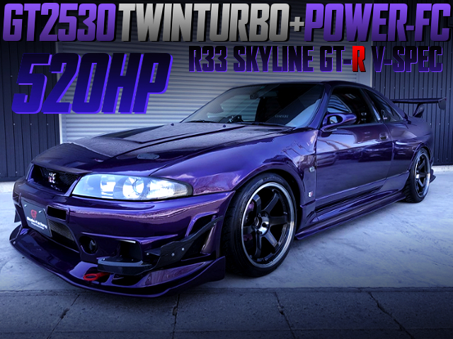 GT2530 TWINTURBO AND POWER-FC OF R33 GT-R V-SPEC TO 520HP.
