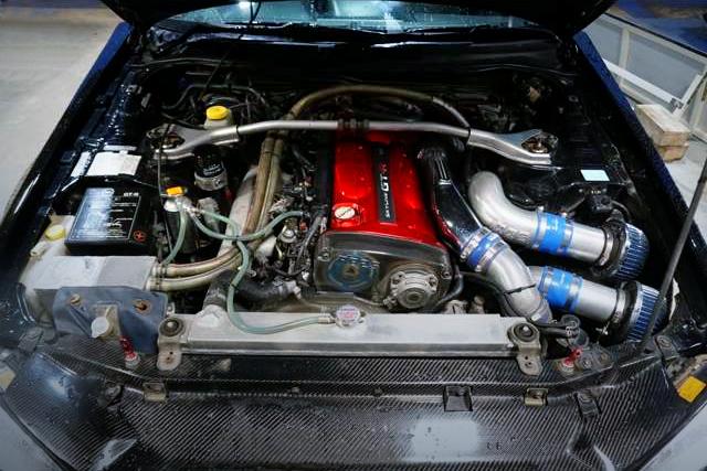 RB26DETT TWINTURBO ENGINE OF R34 GT-R MOTOR.