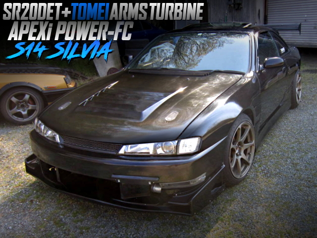 TOMEI TURBO ON SR20DET With S14 KOUKI SILVIA WIDEBODY AND URAS BODY KIT.