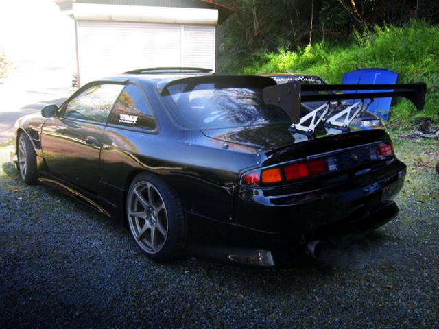 REAR EXTERIOR OF S14 SILVIA KOUKI.