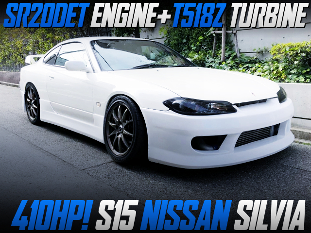 SR20DET WITH T518Z TURBINE INTO S15 SILVIA OF 410HP.
