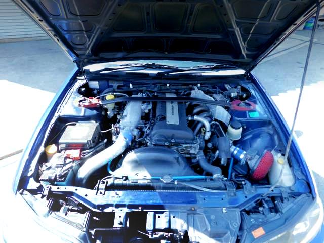 BLACK TOP SR20DET TURBO ENGINE OF S15 VARIETTA ENGINE ROOM.