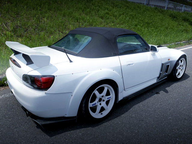 REAR EXTERIOR OF AP1 S2000 WIDEBODY.