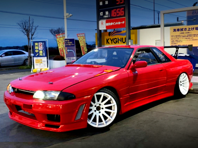 FRONT R32 GT-R FRONT END TO HCR32 SKYLINE 2-DOOR TO RED PAINT.