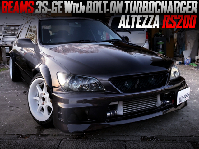BEAMS 3S-GE With BOLT ON TURBO INTO SXE10 ALTEZZA RS200 WIDEBODY.