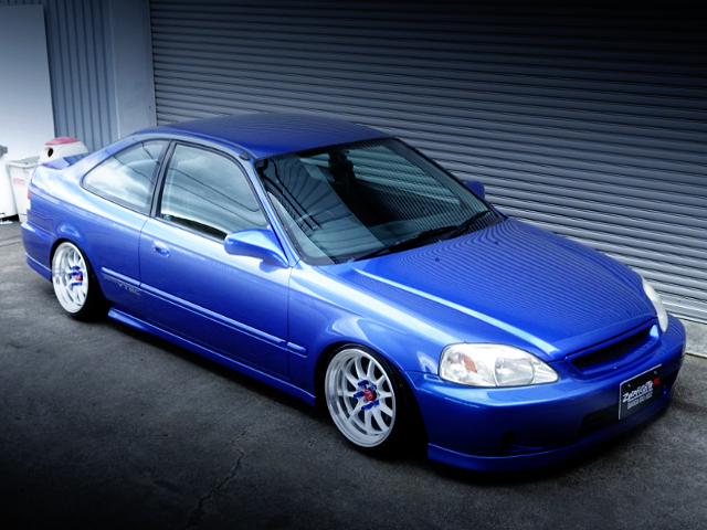 FRONT EXTERIOR OF JDM ZENKI EJ7 CIVIC COUPE.