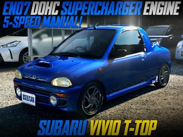 EN07 DOHC SUPERCHARGER ENG SWAP AND 5MT INTO KY3 VIVIO T-TOP BLUE.