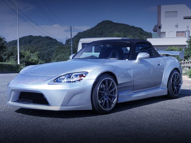 FRONT EXTERIOR AP1 S2000 WIDEBODY TO SILVER COLOR.