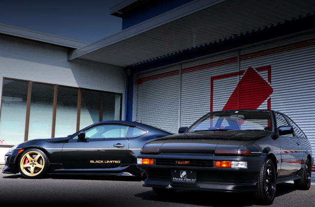 FRONT AE86 TRUENO AND LEFT SIDE TOYOTA 86.