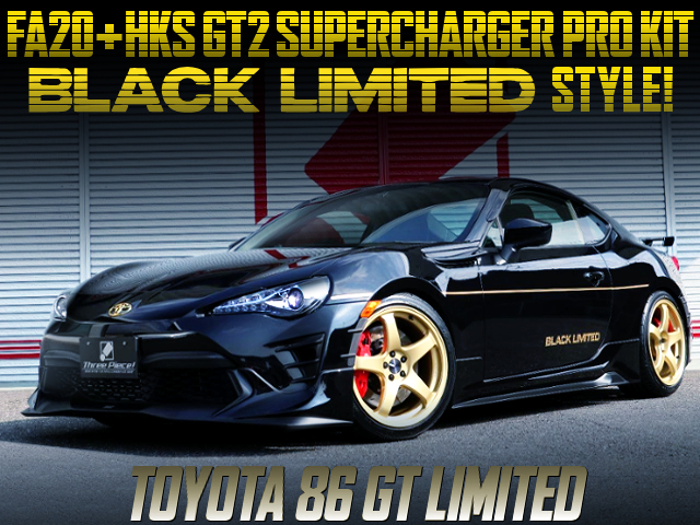 GT2 SUPERCHARGER AND BLACK LIMITED STYLE CUSTOM TO TOYOTA 86 GT-LIMITED.