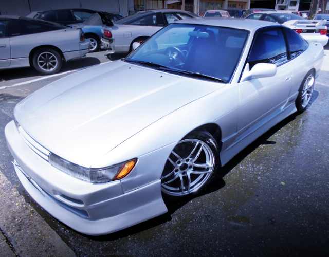 FRONT EXTERIOR OF S13 SILEIGHTY TO SILVER METALLIC.