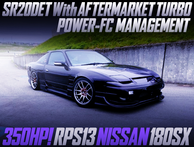 AFTERMARKET TURBO ON SR20DET With RPS13 180SX WIDEBODY AND PURPLE.
