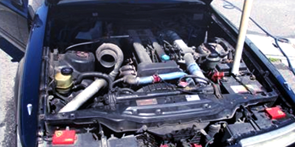 NON VVTi 1JZ-GTE ENGINE With AFTERMARKET SINGLE TURBO.