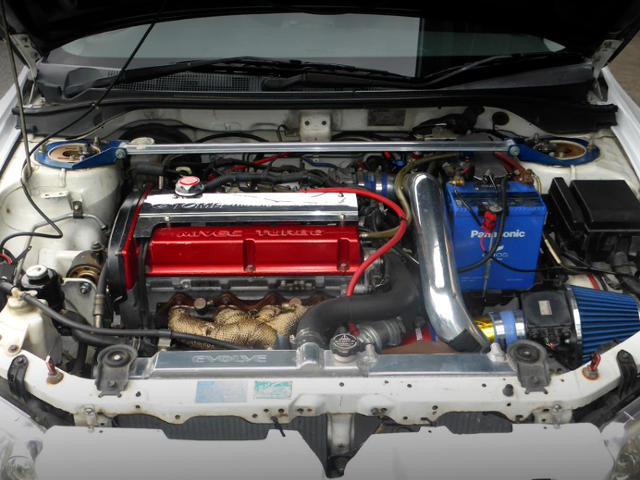 4G63 MIVEC TURBO ENGINE INTO A EVO 8 RS.