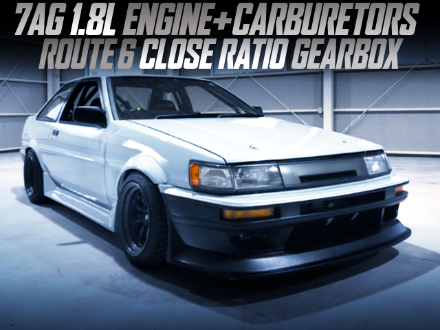 7AG CARBS AND CLOSE RATIO GEARBOX INTO AE86 LEVIN 2-DOOR GT.