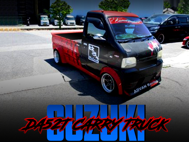 ADVAN COLOR And HELLO SPECIAL BODY KIT OF SUZUKI CARRY TRUCK.