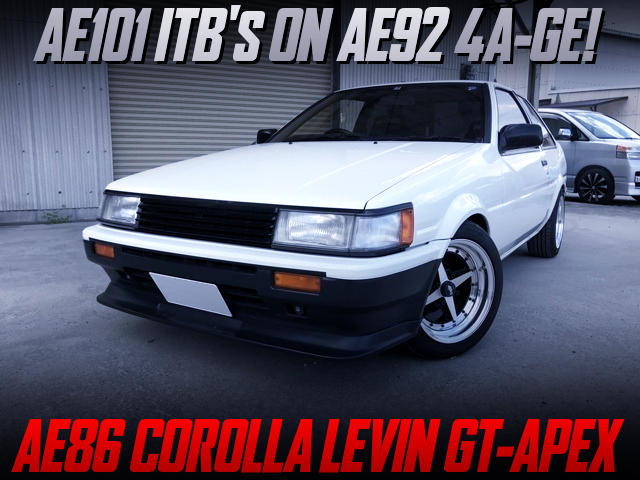 AE101 ITB's ON AE92 4AG SWAPPED AE86 COROLLA LEVIN GT-APEX.