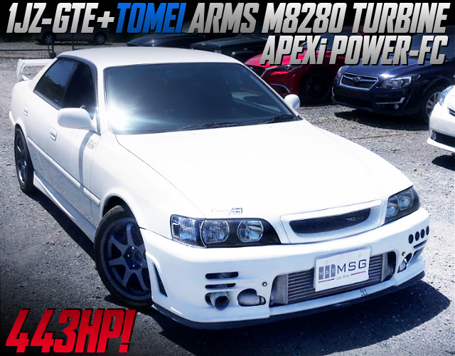 1JZ With M8280 TURBO AND POWER-FC INTO JZX100 CHASER TOURER-V TRD SPORTS.