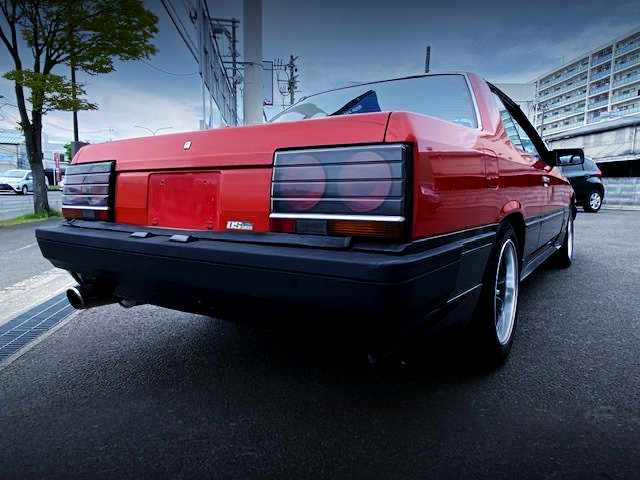 REAR EXTERIOR OF DR30 IRON MASK SKYLINE 2000 TURBO RS-X.
