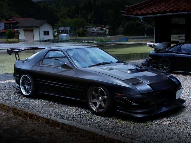 FRONT EXTERIOR OF FC3S RX-7 GT-R TO WIDEBODY.