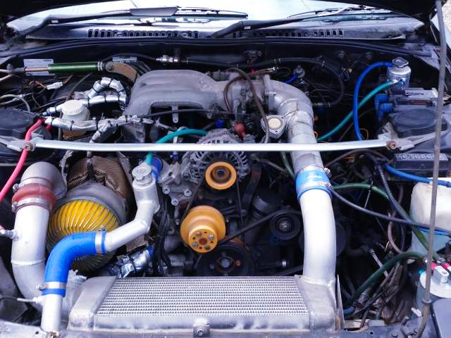 FD3S INTAKE MANI ON 13B-T SIDE PORT TURBO ENGINE.