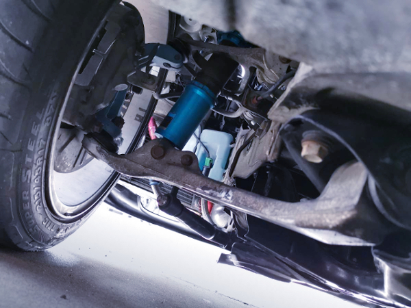 COILOVER INSTALLED FD3S RX-7.