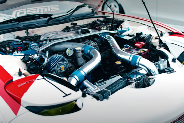 13B-REW ROTARY TWIN TURBO ENGINE.
