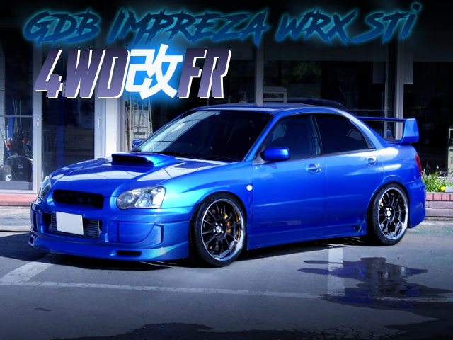 4WD TO 2WD CONVERSION OF GDB BLOBEYE WRX STi.