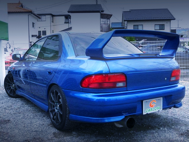 REAR EXTERIOR OF GC8 WRX RA STi Ver.6 LTD TO BLUE.
