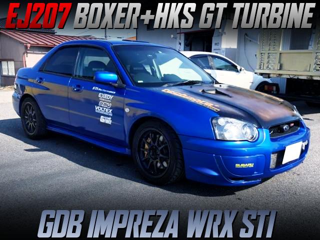 EJ207 BOXER With HKS GT TURBINE INTO GDB BLOBEYE IMPREZA WRX STI.
