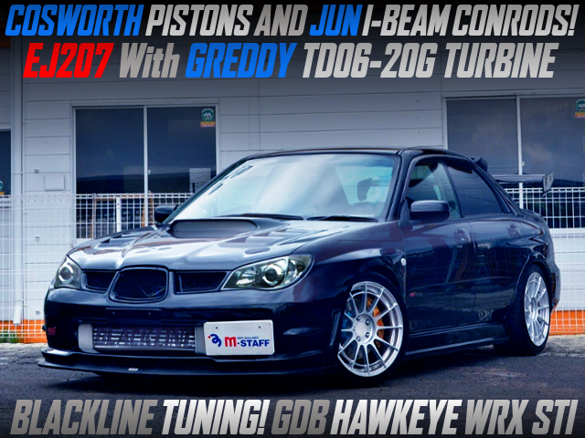 BLACKLINE TUNING OF GDB HAWKEYE WRX STI TD06-20G TURBO.