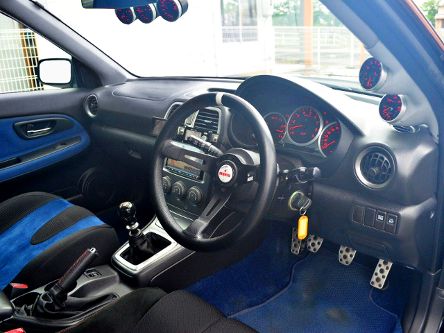 INTERIOR OF GDB HAWKEYE WRX STI.