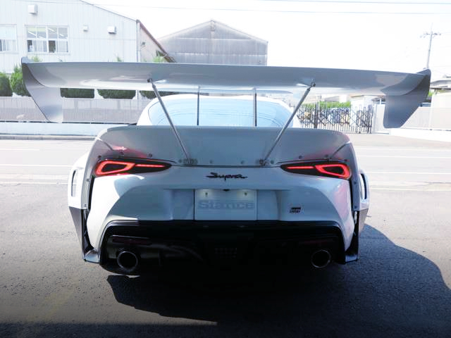TAIL LIGHT AND SWAN NECK GT-WING OF GR SUPRA RZ.