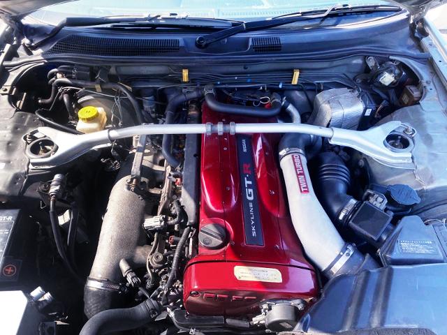 RB26DETT TWINTURBO ENGINE.