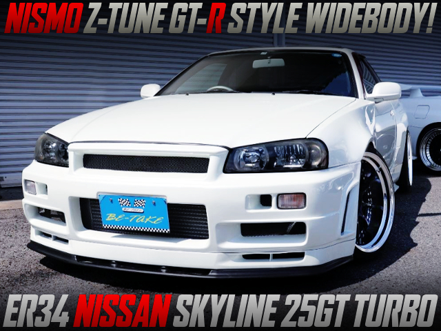 NISMO Z-TUNE STYLE WIDEBODY TO ER34 SKYLINE 2-DOOR 25GT-T.