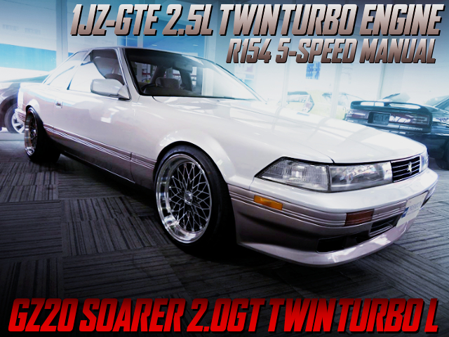 1JZ-GTE TWINTURBO AND R154 5MT SWAPPED GZ20 SOARER 2.0GT TWINTURBO L.