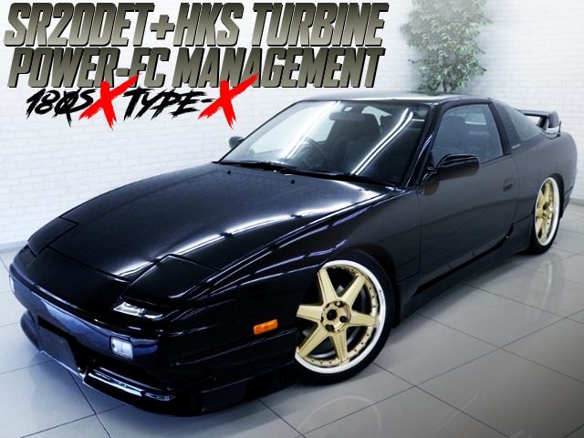HKS TURBINE AND POWER-FC With 180SX TYPE-X BLACK PAINT.