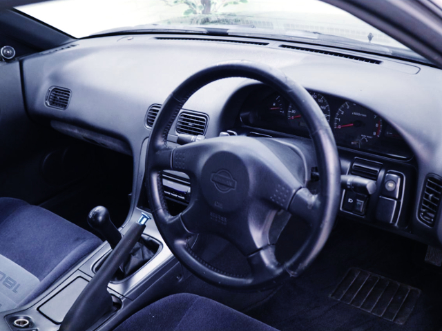 GENUINE STEERING AND DASHBOARD OF 180SX TYPE-X INTERIOR.
