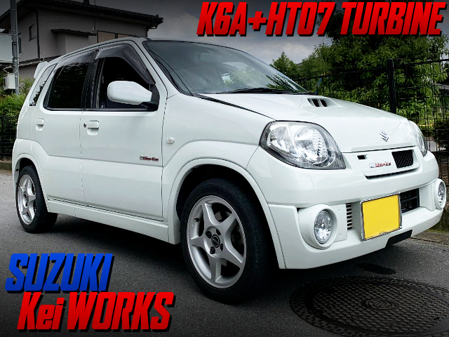 HT07 TURBOCHARGED HN22S Kei WORKS WHITE.