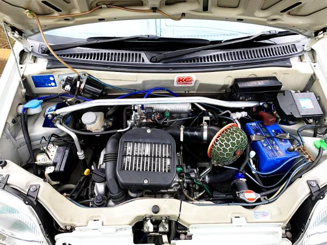 K6A TWINCAM INTERCOOLER TURBO ENGINE OF HN22S Kei WORKS MOTOR.