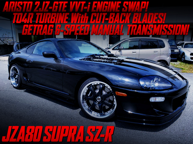2JZ-GTE SWAP With TO4R CUT BACK BLADES OF JZA80 SUPRA SZ-R BLACK.
