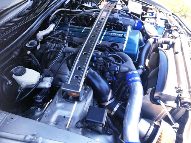 VVTi 2JZ-GTE TWINTURBO ENGINE OF JZA80 SUPRA RZ-S MOTOR.